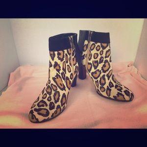 Sam Edelman Leopard print Heel boots